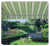 Green Striped Awning, Shop Awnings in Birmingham, West Midlands