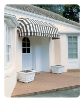 Black Striped Awning, Shop Awnings in Birmingham, West Midlands